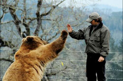 Image: Casey and Brutus high five